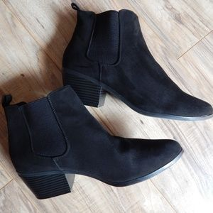 ASOS Black Suede Chelsea Ankle Booties